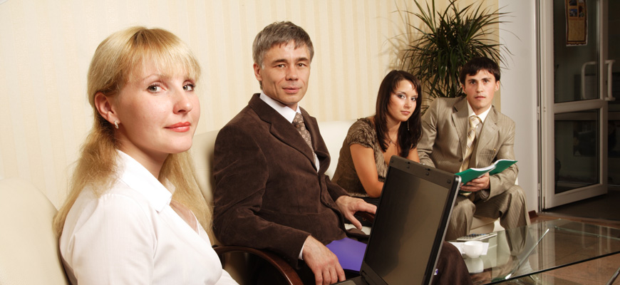 Group of business people working together in the office..